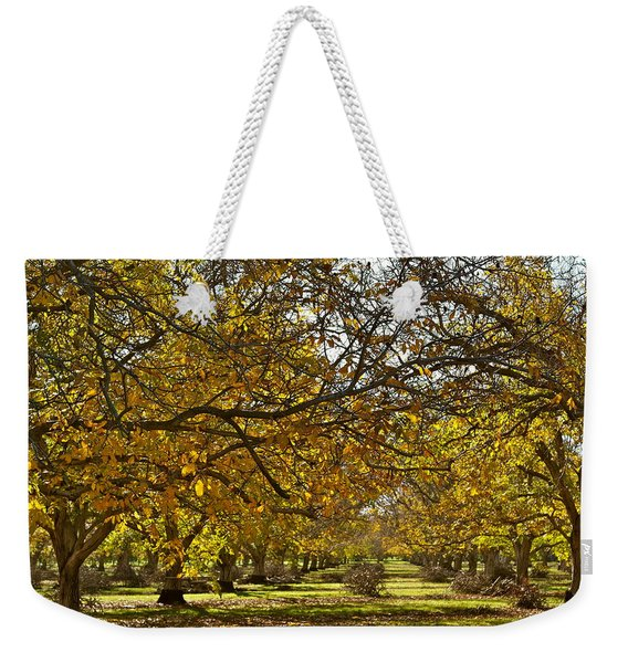 Golden Walnut Orchard Weekender Tote Bag