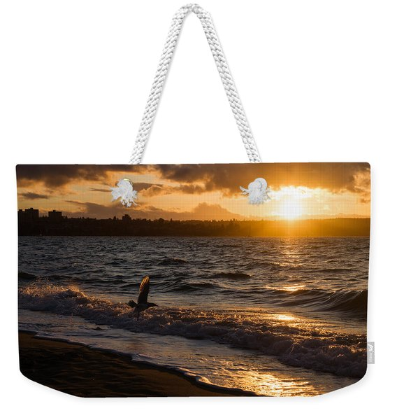 Golden Wings Golden Water Weekender Tote Bag