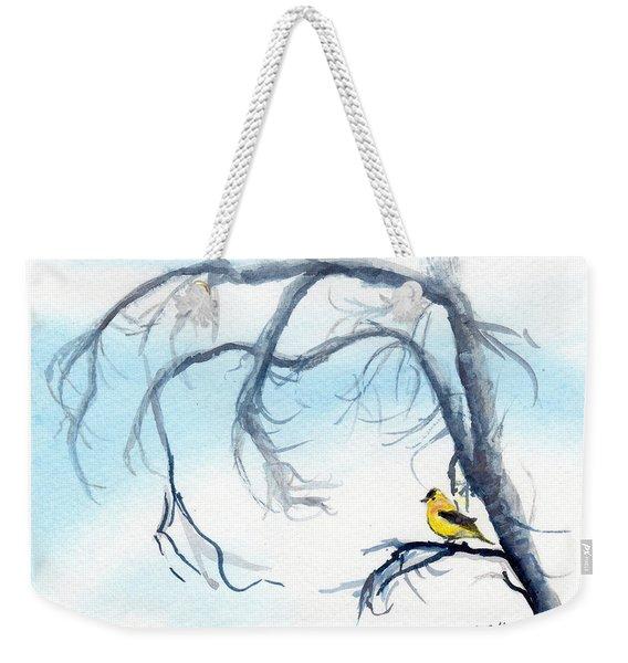 Goldfinch In Tree Weekender Tote Bag