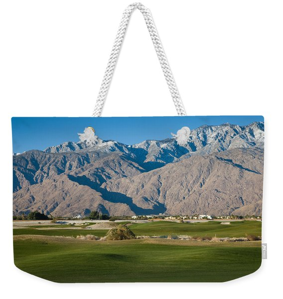 Golf Course With Mountain Range, Desert Weekender Tote Bag