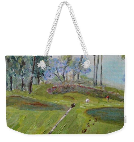 Golfing At Monarch Weekender Tote Bag