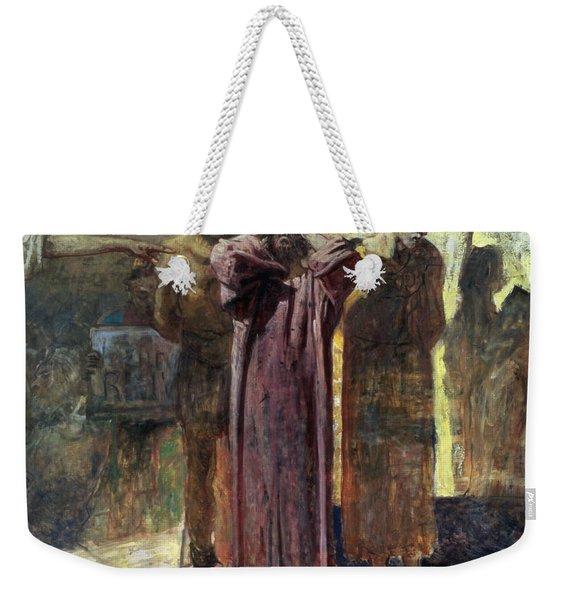 Golgotha, 1892-93 Oil On Canvas Weekender Tote Bag