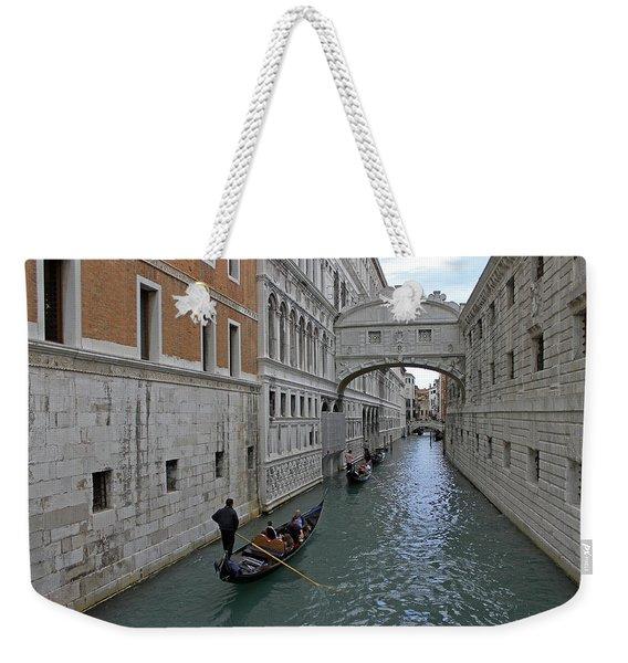 Gondolas Under Bridge Of Sighs Weekender Tote Bag
