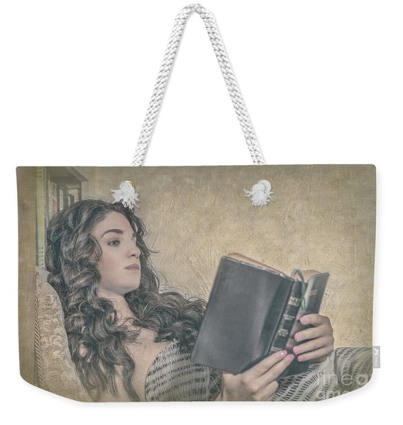 Good Book Weekender Tote Bag