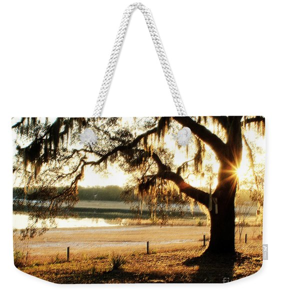 Good Morning Mossy Oak Weekender Tote Bag