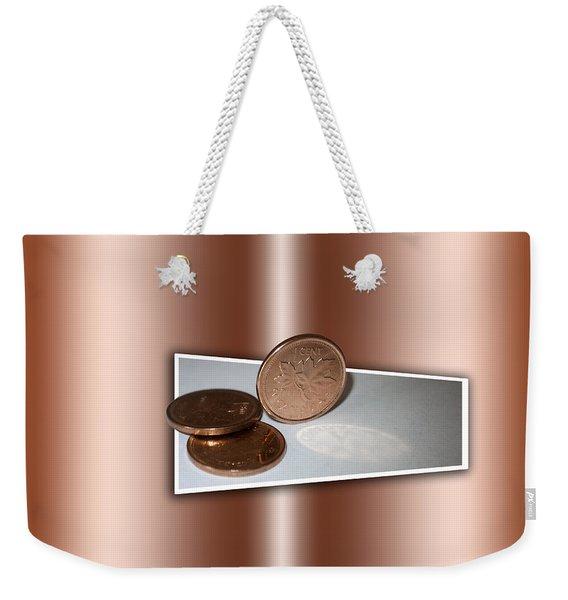 Goodbye Canadian Penny Weekender Tote Bag