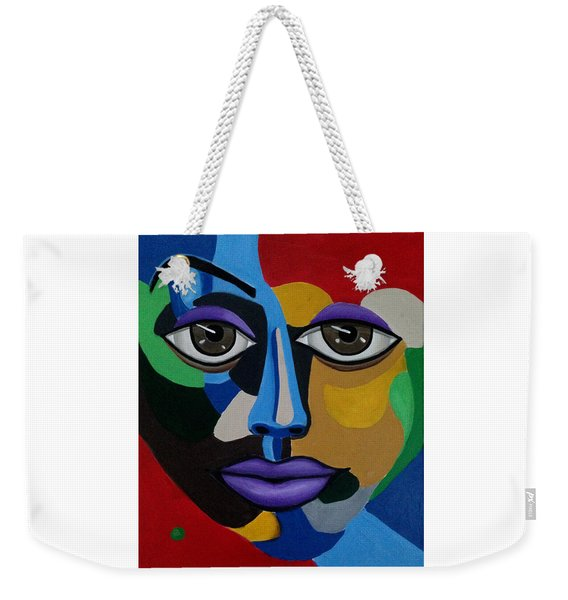 Abstract Face Art Abstract Painting Eye Art Weekender Tote Bag