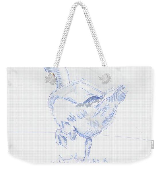 Goose Walking Weekender Tote Bag