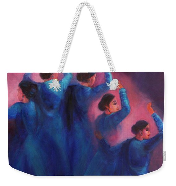 Gopis Dancing In The Dusk Weekender Tote Bag