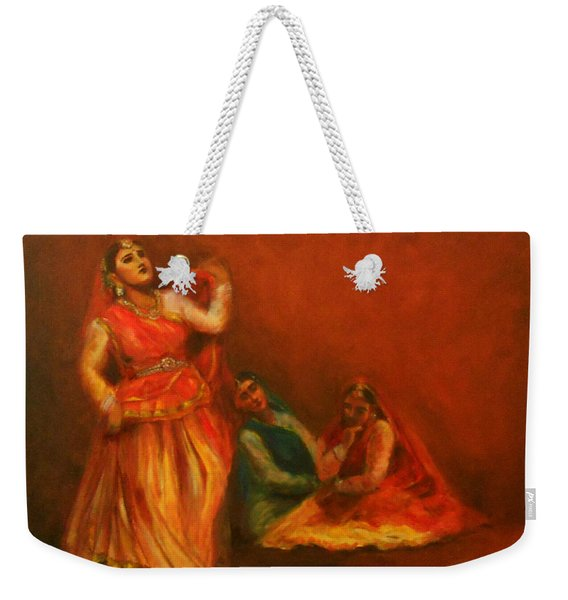 Gopis Distressed As Krishna Is Not Seen Weekender Tote Bag