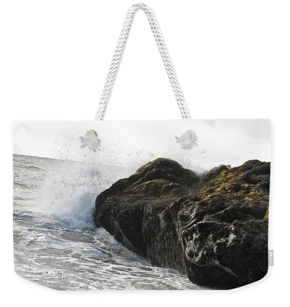 Weekender Tote Bag featuring the photograph Gorillas In The Mist  by Cliff Spohn