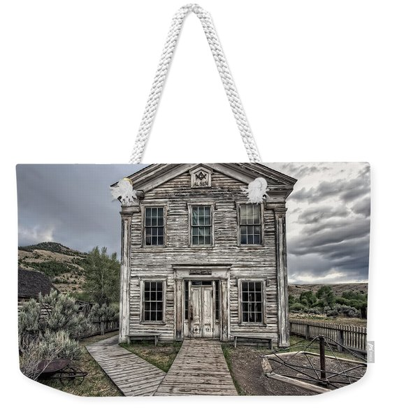 Gothic Lodge And School  - Bannack Montana Ghost Town Weekender Tote Bag
