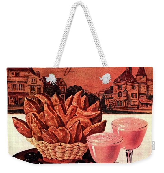 Gourmet Cover Featuring A Basket Of Potato Curls Weekender Tote Bag