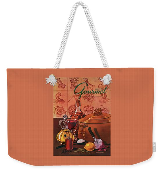 Gourmet Cover Featuring A Casserole Pot Weekender Tote Bag