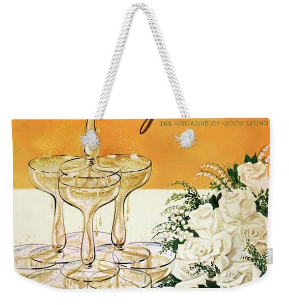 Gourmet Cover Featuring A Pyramid Of Champagne Weekender Tote Bag