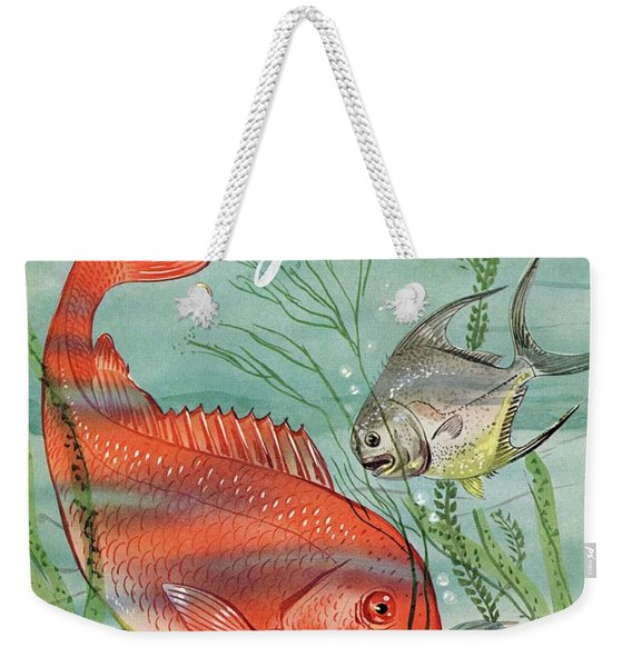 Gourmet Cover Featuring A Snapper And Pompano Weekender Tote Bag