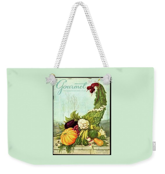 Gourmet Cover Illustration Of A Cornucopia Weekender Tote Bag