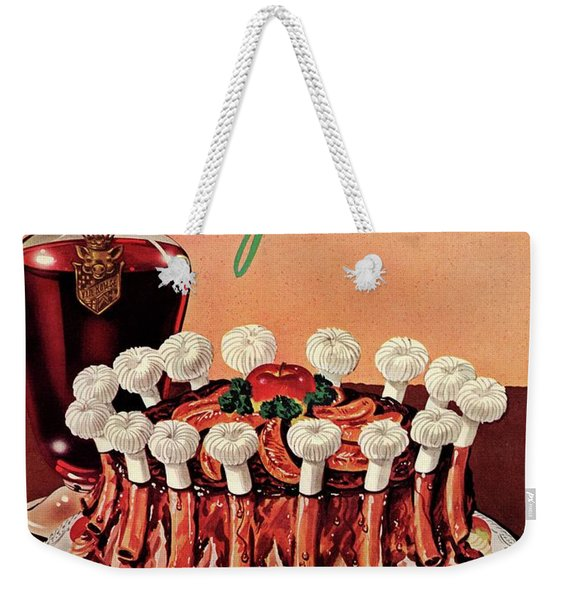 Gourmet Cover Illustration Of A Crown Roast Weekender Tote Bag
