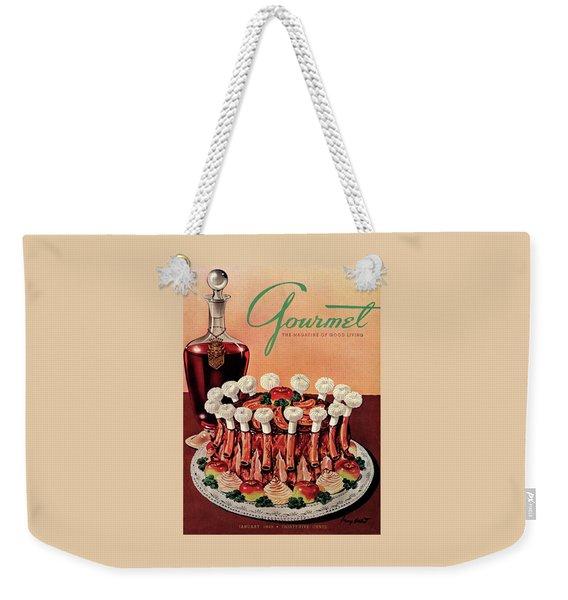 Gourmet Cover Illustration Of A Crown Roast Weekender Tote Bag