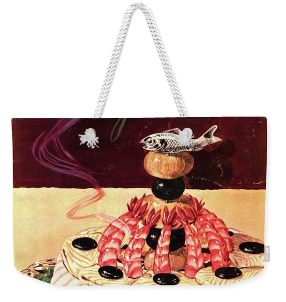 Gourmet Cover Illustration Of A Filet Of Sole Weekender Tote Bag