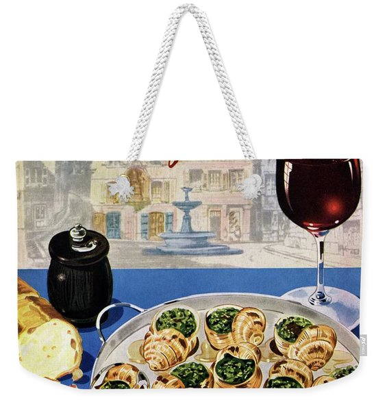 Gourmet Cover Illustration Of A Platter Weekender Tote Bag