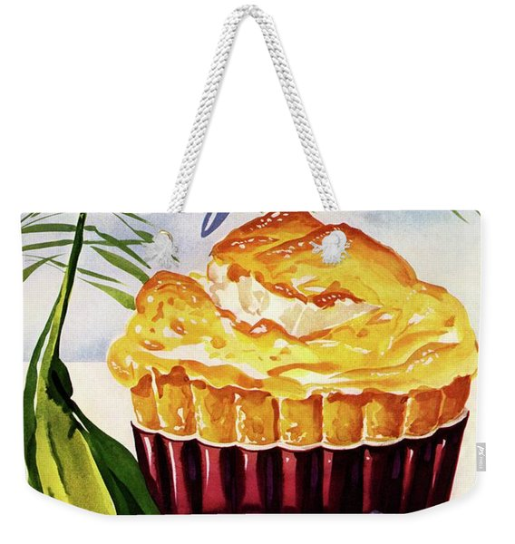 Gourmet Cover Illustration Of A Souffle And Tulip Weekender Tote Bag