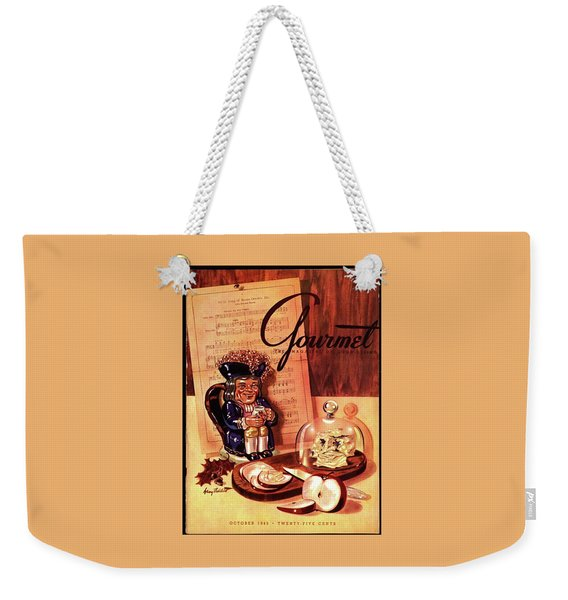 Gourmet Cover Illustration Of A Tray Of Cheese Weekender Tote Bag