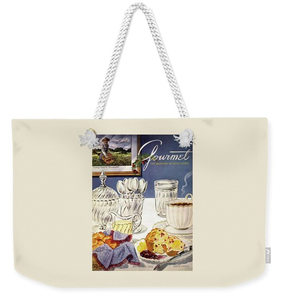 Gourmet Cover Illustration Of Cranberry Muffins Weekender Tote Bag
