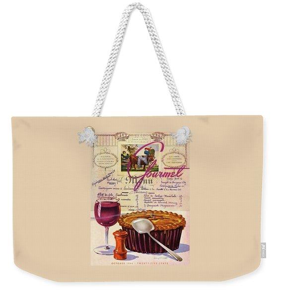 Gourmet Cover Illustration Of Deep Dish Pie Weekender Tote Bag