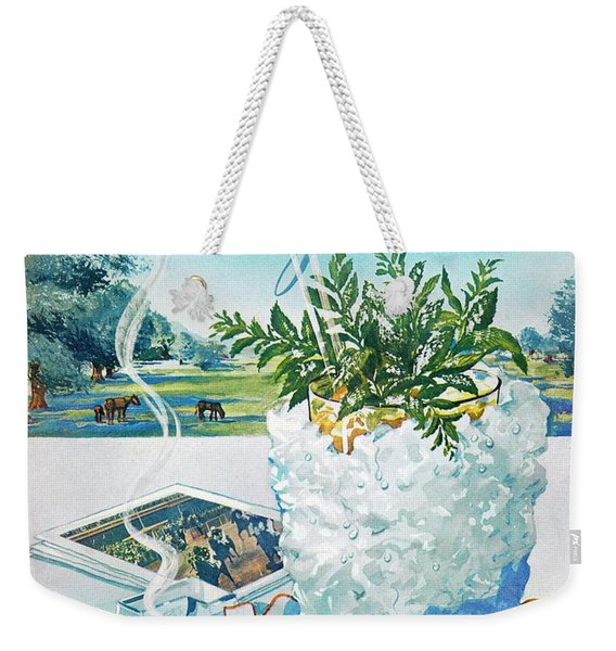 Gourmet Cover Illustration Of Mint Julep Packed Weekender Tote Bag