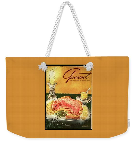 Gourmet Cover Illustration Of Salmon Mousse Weekender Tote Bag