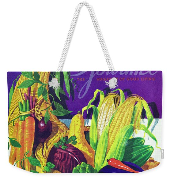 Gourmet Cover Of A Cornucopia Weekender Tote Bag