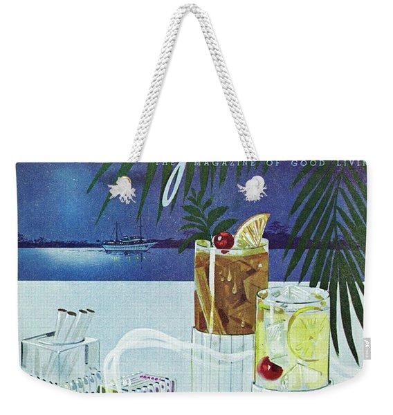 Gourmet Cover Of Cocktails Weekender Tote Bag