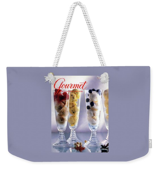Gourmet Magazine Cover Featuring Ice Cream Weekender Tote Bag