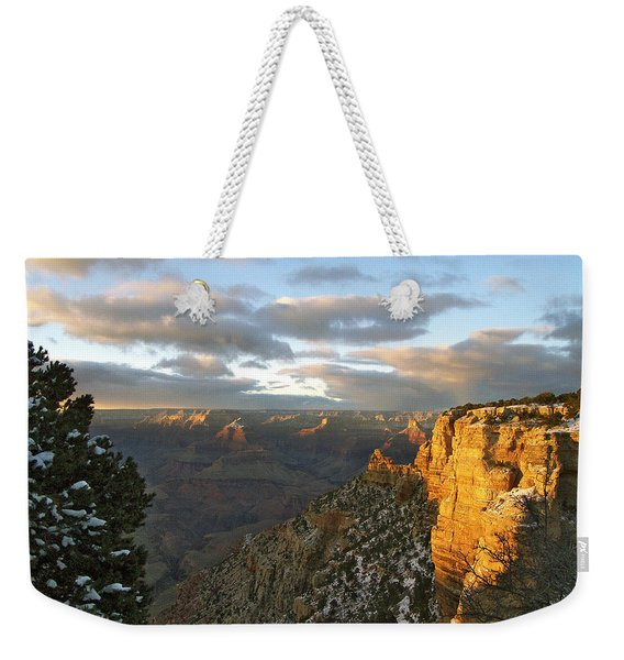 Grand Canyon. Winter Sunset Weekender Tote Bag