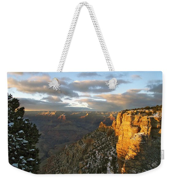 Grand Canyon. Winter Sunset Weekender Tote Bag