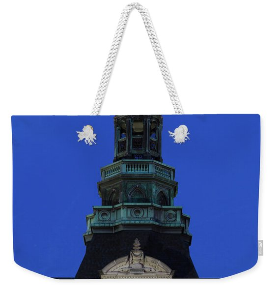 Grand Island Courthouse At Dusk, Grand Weekender Tote Bag