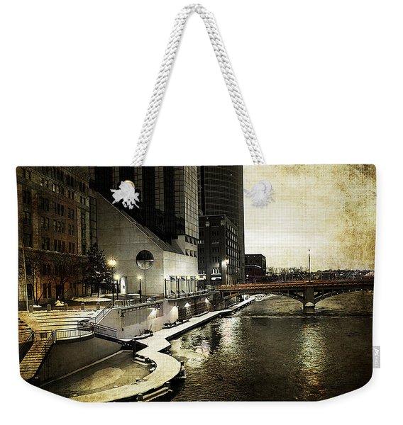 Grand Rapids Grand River Weekender Tote Bag