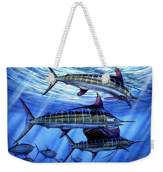 Grand Slam Lure And Tuna Weekender Tote Bag