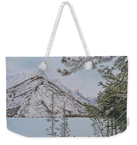 Grand Teton View Weekender Tote Bag