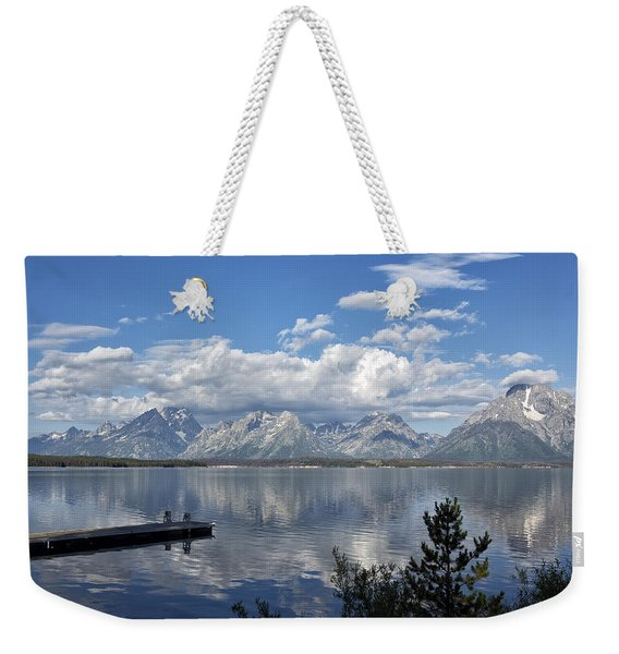 Grand Tetons In The Morning Light Weekender Tote Bag