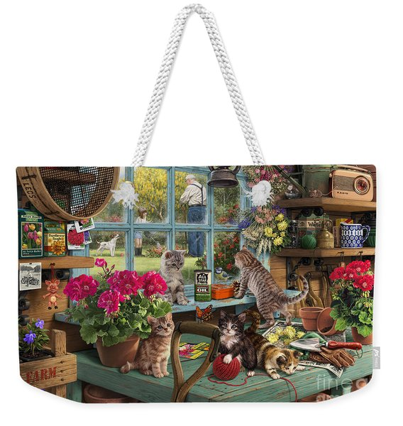 Grandpa's Potting Shed Weekender Tote Bag