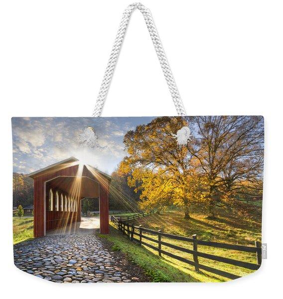 Granny Squirrel Bridge Weekender Tote Bag