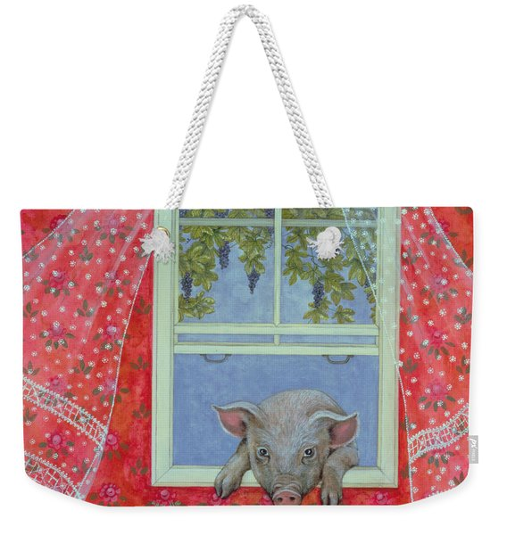 Grapes At The Window Weekender Tote Bag