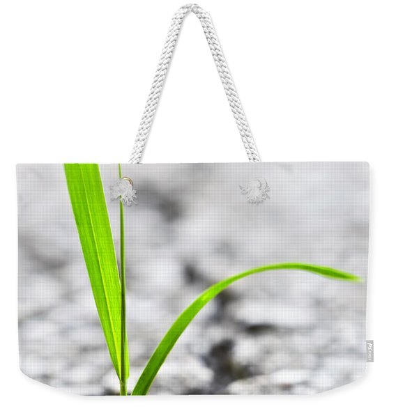 Grass In Asphalt Weekender Tote Bag