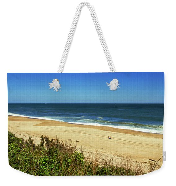 Grass On The Beach, Montauk Point Weekender Tote Bag