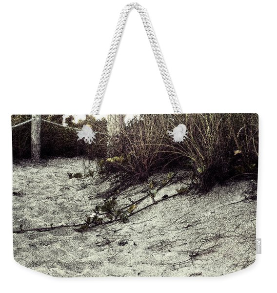 Grassy Beach Post Entrance At Sunset 2 Weekender Tote Bag
