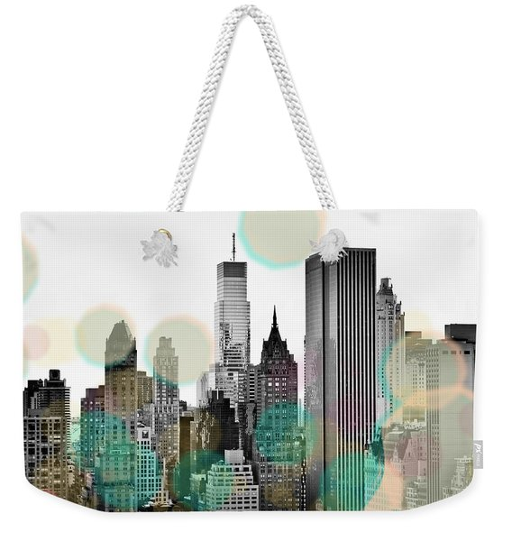 Gray City Beams Weekender Tote Bag