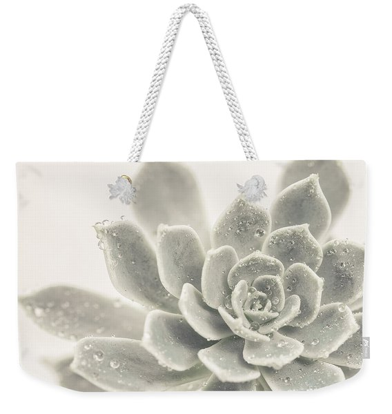 Gray Succulent 2 Weekender Tote Bag