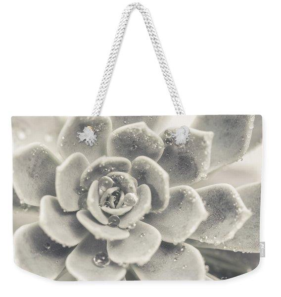 Gray Succulent Weekender Tote Bag